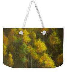 Aspens And Cattails Weekender Tote Bag by Jack Malloch
