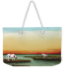 Assateague Island Sunset Weekender Tote Bag