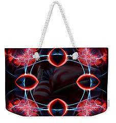 Weekender Tote Bag featuring the photograph Assault From Within by Clayton Bruster