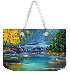 Weekender Tote Bag featuring the painting Assurance by Meaghan Troup