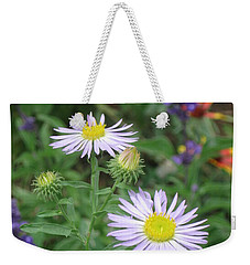 Asters In Close-up Weekender Tote Bag