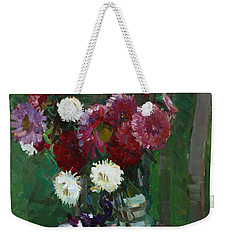 Asters In The First Frosts Weekender Tote Bag