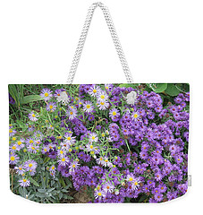 Asters Light And Dark Weekender Tote Bag