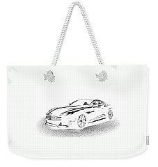 Weekender Tote Bag featuring the digital art Aston Martin by Rogerio Mariani