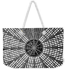 Astrodome Ceiling Weekender Tote Bag by Benjamin Yeager