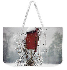 At Home In The Snow Weekender Tote Bag