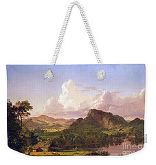 At Home On The Lake By Frederick Edwin Church Weekender Tote Bag