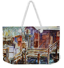 At Monterey Wharf Ca Weekender Tote Bag by Xueling Zou