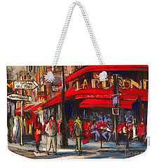At The Cafe De La Rotonde Paris Weekender Tote Bag