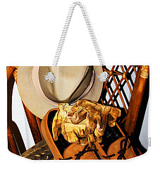 Weekender Tote Bag featuring the painting At The End Of The Day by Jennifer Muller