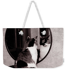 At The Mirror Weekender Tote Bag