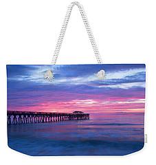 Myrtle Beach State Park Pier Sunrise Weekender Tote Bag by Vizual Studio