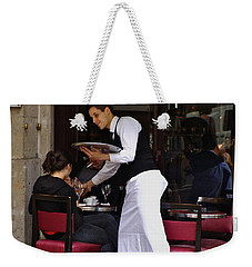 Weekender Tote Bag featuring the photograph At Your Service by Ira Shander