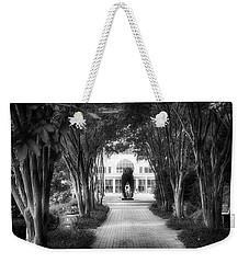 Atlanta Botanical Garden-black And White Weekender Tote Bag by Douglas Barnard