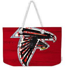Atlanta Falcons Football Team Retro Logo Georgia License Plate Art Weekender Tote Bag