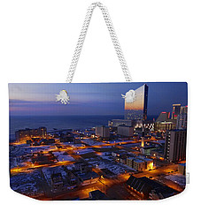 Weekender Tote Bag featuring the photograph Atlantic City At Dawn by Joan Reese