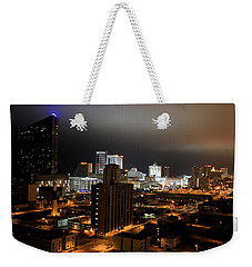 Atlantic City At Night Weekender Tote Bag