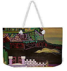 Weekender Tote Bag featuring the painting Atlantis by Barbara St Jean
