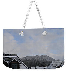 Weekender Tote Bag featuring the photograph Attic Windows Open To The Sky by Felicia Tica