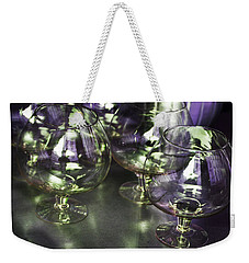 Aubergine Paris Wine Glasses Weekender Tote Bag