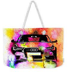 Audi A6 Avant Watercolor Weekender Tote Bag