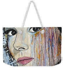 Audrey Hepburn-abstract Weekender Tote Bag by Ismeta Gruenwald