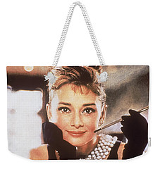 Audrey Hepburn Weekender Tote Bag by Georgia Fowler