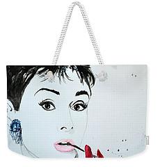 Audrey Hepburn - Original Weekender Tote Bag by Ismeta Gruenwald