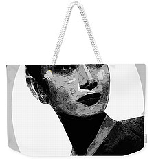 Audrey Hepburn - Pencil Weekender Tote Bag by Doc Braham