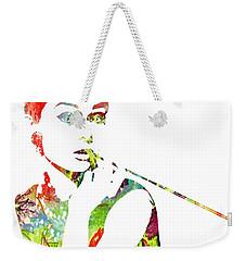 Audrey Hepburn - Watercolor Weekender Tote Bag