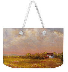 Weekender Tote Bag featuring the painting August Afternoon Pa by Katalin Luczay