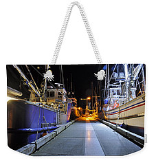 Weekender Tote Bag featuring the photograph Auke Bay By Night by Cathy Mahnke