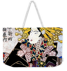 Weekender Tote Bag featuring the painting Aunt Annie by Tom Roderick