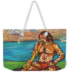 Weekender Tote Bag featuring the painting Aussie Dream I by Xueling Zou
