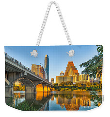Austin City Glow Weekender Tote Bag by Tod and Cynthia Grubbs