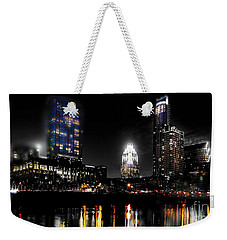 Austin Night Skyline Reflections  Weekender Tote Bag