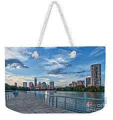Austin Skyline At Dark  Weekender Tote Bag by Tod and Cynthia Grubbs