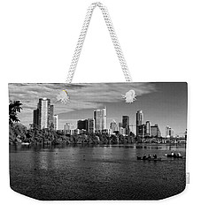 Austin Skyline Bw Weekender Tote Bag by Judy Vincent