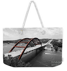 Austin Texas Pennybacker 360 Bridge Color Splash Black And White Weekender Tote Bag