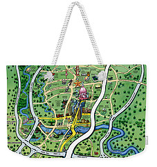Austin Tx Cartoon Map Weekender Tote Bag