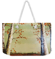Autum On The Ema River  2 Weekender Tote Bag