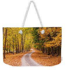 Autum Path Weekender Tote Bag by Melinda Ledsome