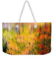 Autumn Abstract Weekender Tote Bag by Eleanor Abramson