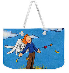 Autumn Angel Weekender Tote Bag