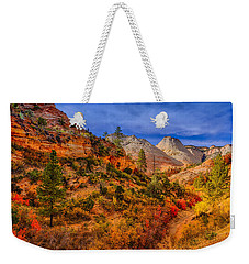 Weekender Tote Bag featuring the photograph Autumn Arroyo by Greg Norrell