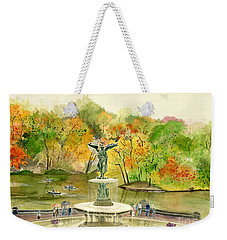 Autumn At Central Park Ny Weekender Tote Bag by Melly Terpening