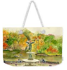 Autumn At Central Park Ny Weekender Tote Bag