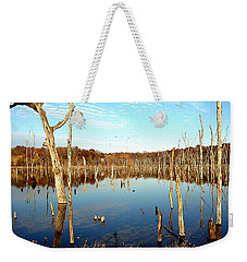 Autumn At Lake Jacomo 3   Weekender Tote Bag by Ellen Tully