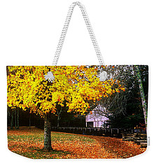 Weekender Tote Bag featuring the photograph Autumn At Old Mill by Rodney Lee Williams
