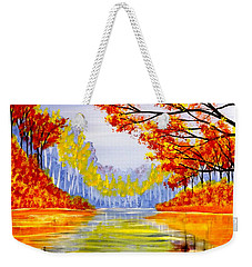 Autumn At The Lake Weekender Tote Bag by Darren Robinson